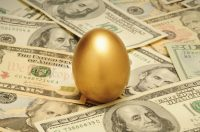 Image of egg and money