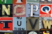Image of English letters